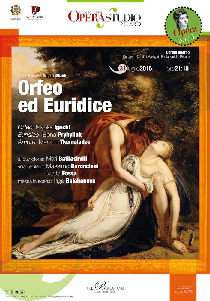 manifesto Orfeo ed Euridice
