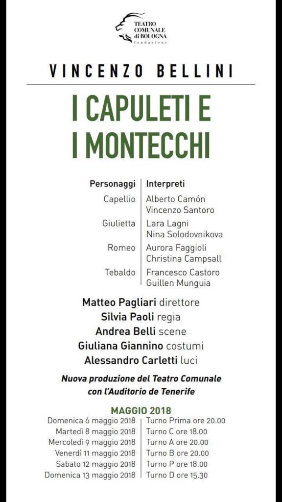I Capuleti e i Montecchi - Bologna 2018